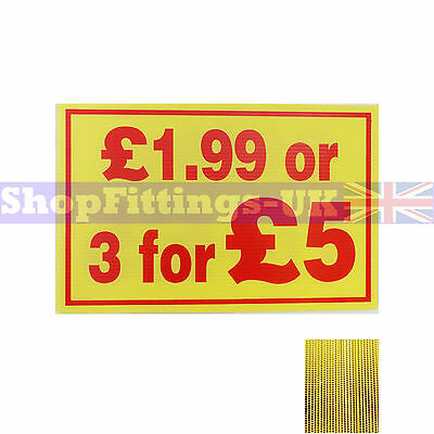 £1.99 or 3 for £5 Market Trader Correx Price Card Sign Board for Retail display