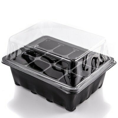 4x PROPAGATOR GROW BOX Or 12 CELL SEEDLING PLANTER TRAY Root Cutting Seed Sowing