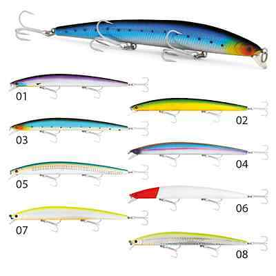 Artificiale Long Minnow 180 Mm Col 01 Seika Tubertini Spinning Lure Pesca Mare