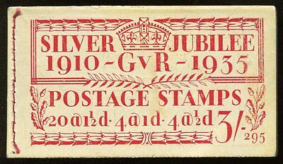 GB KGV Silver Jubilee 3/- booklet BB28 (295) intact mint