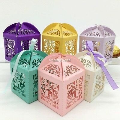 Luxury Sweets Cake Candy Gift Favour Favor Boxes - Love Birds #10B