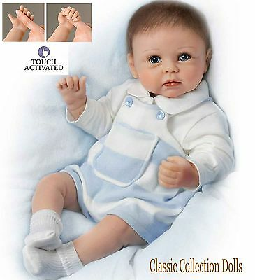 "Ashton Drake ""ETHAN'S SWEET TOUCH""-INTERACTIVE-LIFELIKE BABY DOLL-NEW- IN STOCK!"