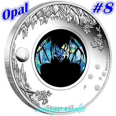 2015 Australia Opal Series #8 Ghost Bat 1oz Silver Proof  Coin Perth Mint OGP!!