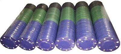 Full Width 3 Colour Poker Roulette Casino Chips - Suited Designs - Tokens