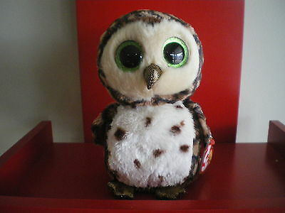 Ty Beanie Boos SAMMY the owl 6 inch  NWMT.  BRAND NEW JUST ARRIVED..