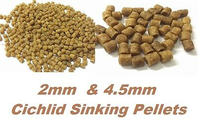 2Mm, 4.5Mm Cichlid Sinking Pellets Tropical/Coldwater Fish Food  Healthy Diet