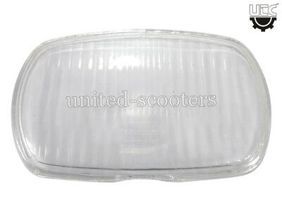 Vespa Lml Rectangle Headlamp Glass Brand New V1734