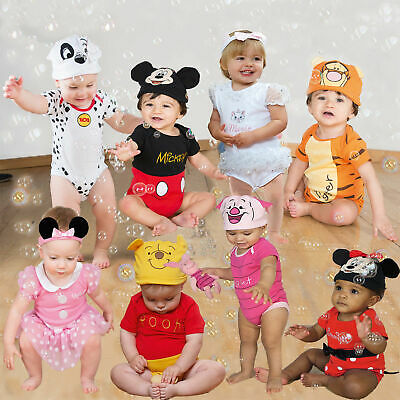 Disney Baby Bodysuit & Hat Piglet Infant Sleepsuit Tigger Fancy Dress Rompers