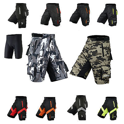 Mens Cycling MTB Shorts Coolmax Padded Off Road Shorts with inner liner
