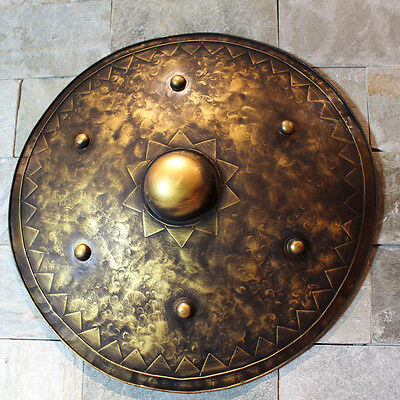 Medieval Knight Shield Handcrafted Metal Iron Round
