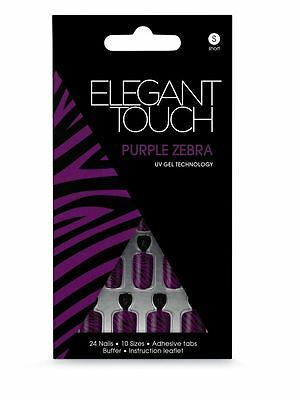 Elegant Touch False Nails - Purple Zebra - Short Length (24 Nails)