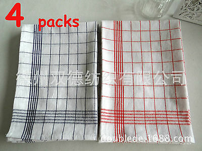 4 Packs Of Brand New 100% Cotton Heavy Duty Commercial Kitchen Tea Towels TET01