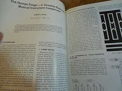 Rare 38 Year Old ROBERT MOOG pro article on The Human Finder, Touch Sensitivity