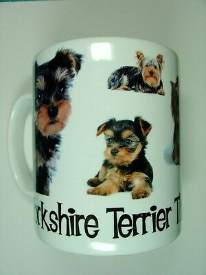 """""""Yorkshire Terrier The Only Dog For Me"""" Design Printed Coffee Mug"""