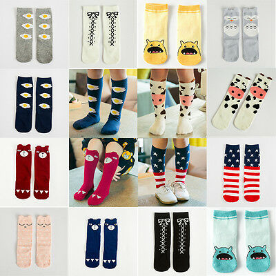 10 Styles Toddlers Baby Girls High Socks Knee  Tights Hosiery Stockings 0~6Year