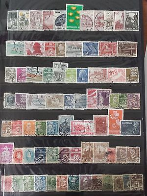 Danemark Lot De Timbres N°17 Obliteres Tous Differents
