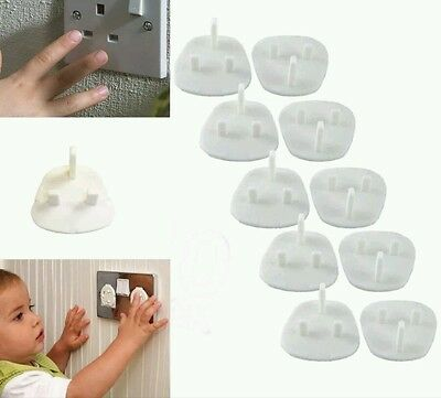 10 Plug In socket Covers Protect your Baby Children Mains Socket Saftey FREE P&P