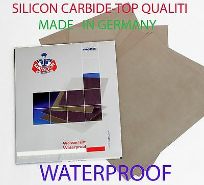 "Sandpaper Wet/Dry 16 pc. 9""x11""  COMBO 400/600/800/1000/1200/1500/2000/2500 Grit"