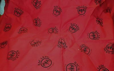 Bacardi Rum - Bat Logo Bandana....Red & Black....NEW