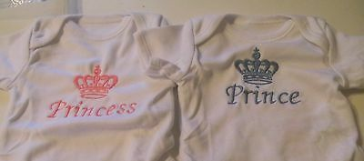 Embroidered Personalised Baby Short Sleeve Bodysuit  (New)