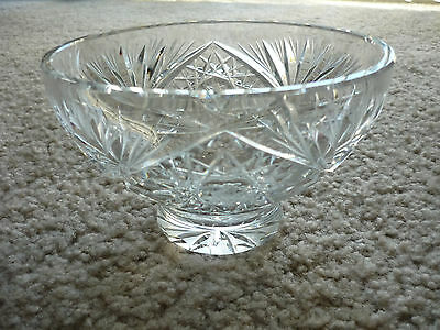 Crystal Footed Bowl/ American Brilliant Period/ Excellent!