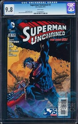 Superman Unchained #2 Cgc 9.8 - Hottest Story Of The Year - Superman Movie - Hot