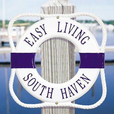 Whitehall Products Life Ring Buoy Personalize Address Number Beach House Custom