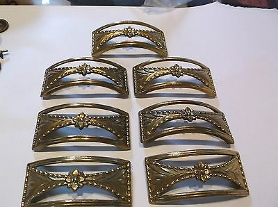 8 Vintage Brass Metal Drawer  Handles / Pulls