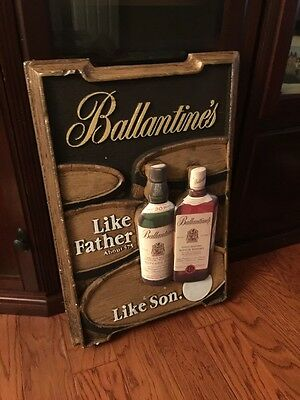 Ballantine Whiskey sign Rare 3D Very Unique Large
