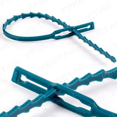 RE-USABLE PLANT CABLE TIE PACKS Adjustable Garden Support Training Tying Climber