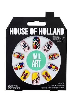 House OF Holland False Nails - Nail Art Designer Nails (24 Nails)
