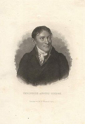 c1850 Christoph August Tiedge (1752-1841) Dichter Stahlstich-Porträt Carl Mayer