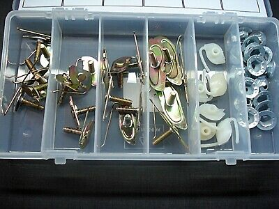 DODGE DOOR BODY EXTERIOR SIDE MOULDING FASTENERS CLIPS 156pc FREE SHIPPING