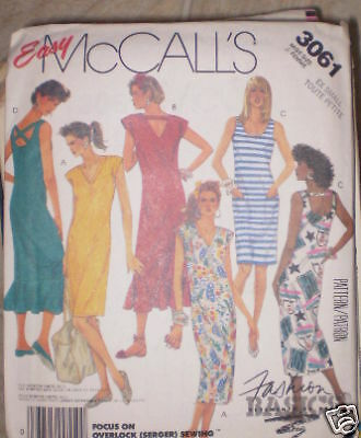 Vintage McCalls SEWING Pattern 1980s Dress 3061 Extra Small XS