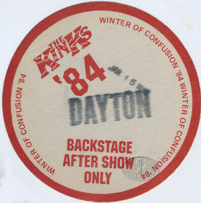 The KINKS 1984 Winter Of Confusion Tour Backstage Pass Dayton