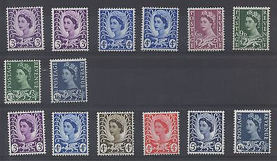 Wales. 1958. Set x 14 definitives. Superb unmounted mint. FREEPOST!