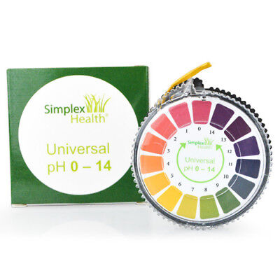 Alkaline pH Test Litmus Paper Strips 0 - 14 for Water Urine & Saliva 5M Roll