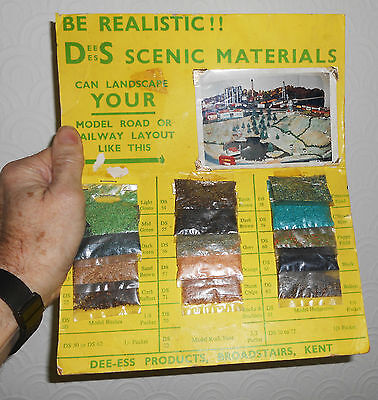 Vintage mixed scenery ballast for model railways on 1960's trade card