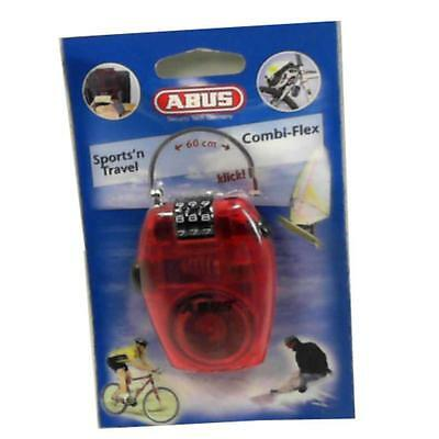 Abus Security Combi-Flex Bike,helmet,bag Case Wire Combination Lock Red   Ma63