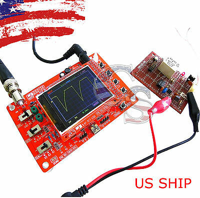 "DSO138 2.4"" TFT Digital Oscilloscope Kit DIY parts ( 1Msps ) with One FREE Probe"
