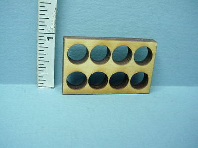 Dollhouse Miniature Crate Insert/Divider (8 hole rnd) Laser Cut Wood 1/12 Scale