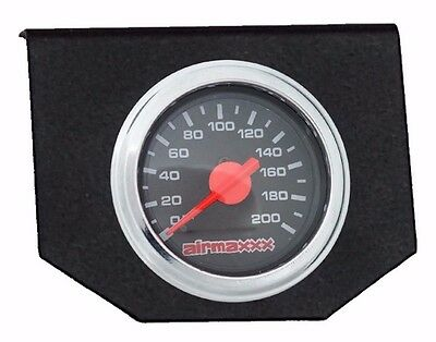 Air Bag Suspension Dual Needle Air Gauge Single Panel Display 200psi No Switch