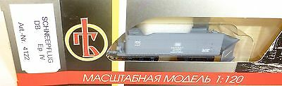 Snowplough Tender DB gray EP IV Peresvet 4122 TT 1:120 original packaging