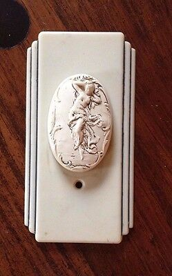 Unique Art Deco Cream Bakelite Cameo Light Switch
