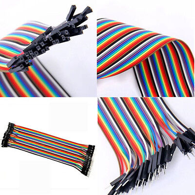 Hot 2.54mm 1P-1P jumper cable jumpers for Arduino 10/20/30cm optional Wire Dupon