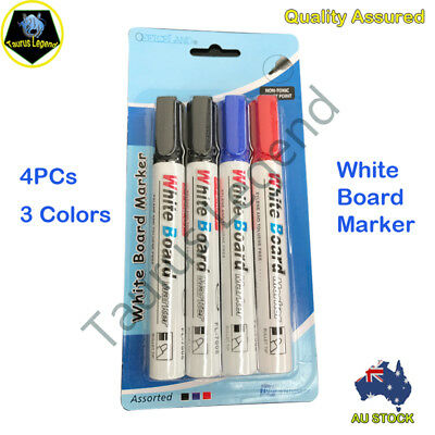 4PCs Bold Point Whiteboard Marker Pens Set 3 Colors Pack