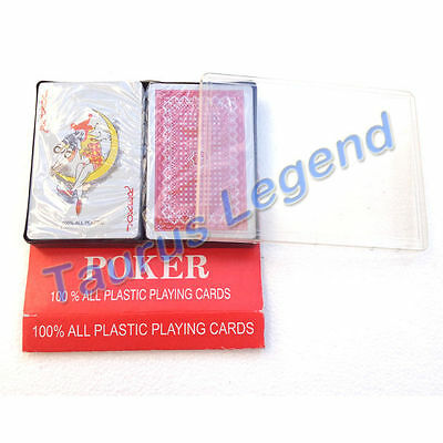 BRAND NEW 2 Decks Plastic Playing Cards Card Poker Set Water Proof