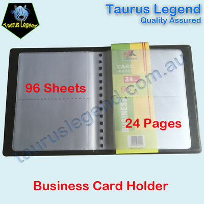 Black Cover Business Name Card Holder Folder Booklet 96 Sheets 24 Pages