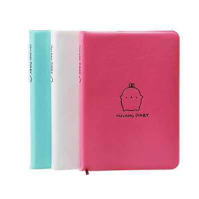 Leather Molang Diary Weekly Planner Agenda Notepad Notebook Cute Rabbit Kawaii A