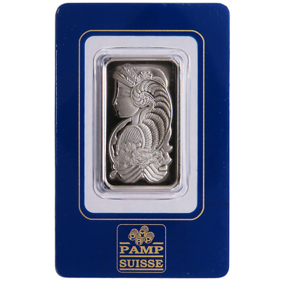 1 Troy oz Pamp Suisse Palladium Bar .9995 Fine In Assay